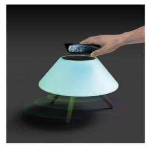 Nabo XLS 2000 LED-Leuchte + Bluetoothspeaker + QI Ladegerät AA34053