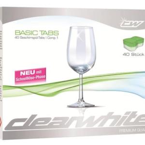 Clearwhite Basic Tabs 40 Stk. AA09073